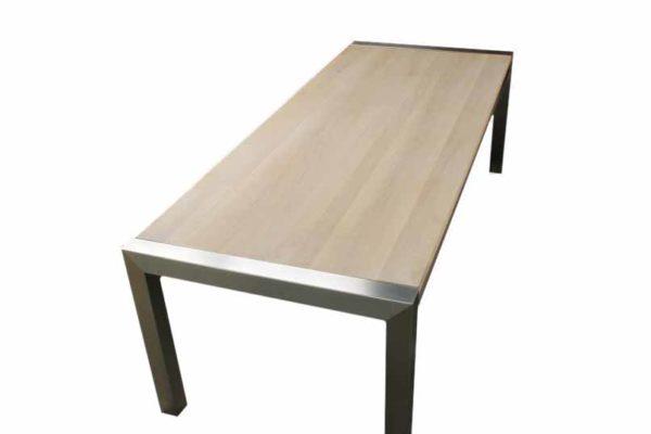 rvs tafel Milaan eiken01