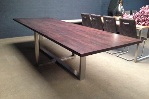 rvs tafel massimo hout