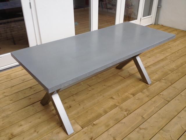 Onderstel tafel maken fabulous tafel treinrail onderstel met