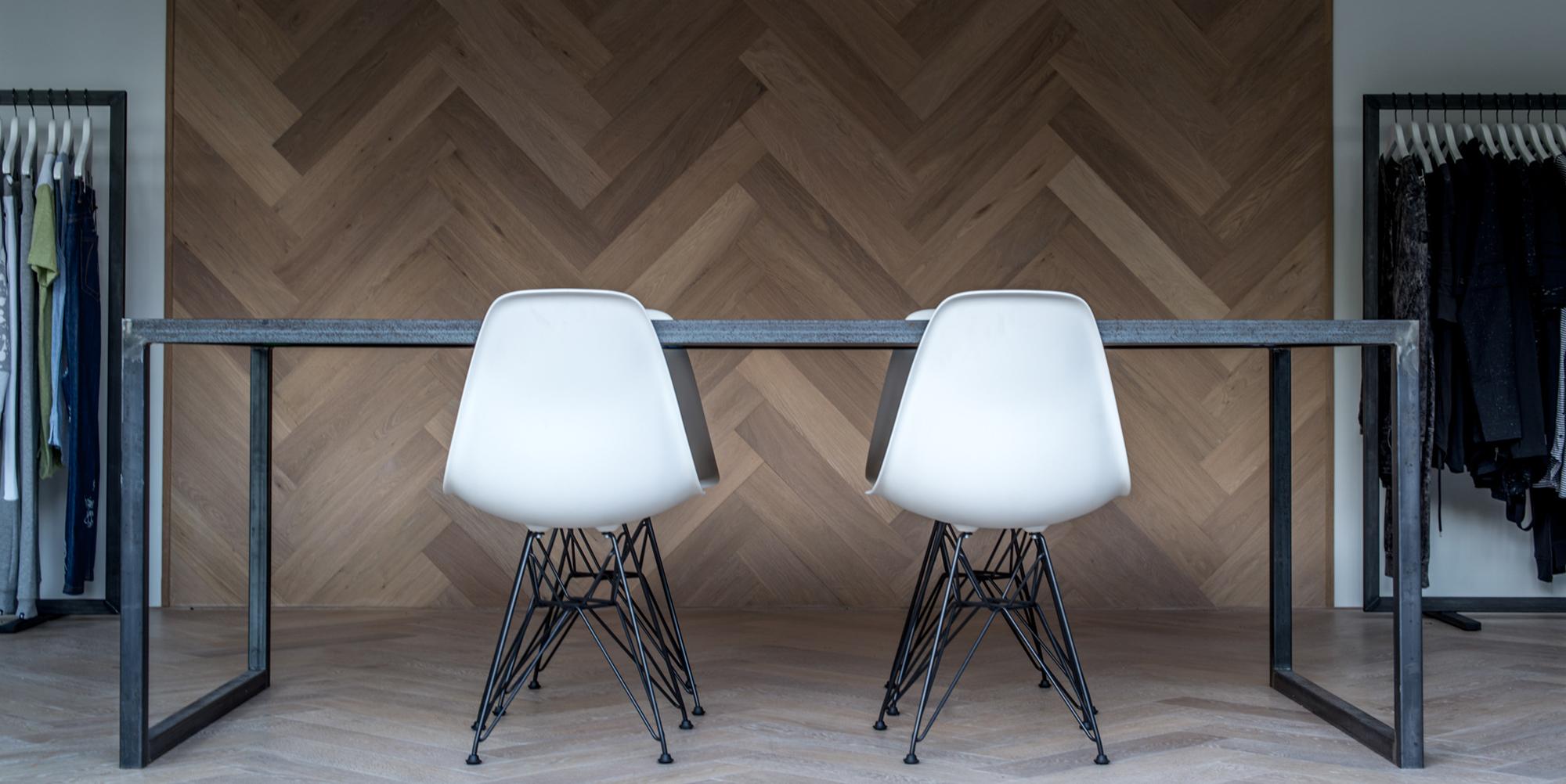 tafel napoli blank staal